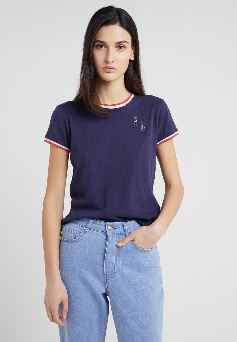 Polo Ralph Lauren - UNEVEN - T-Shirt print - graphic navy