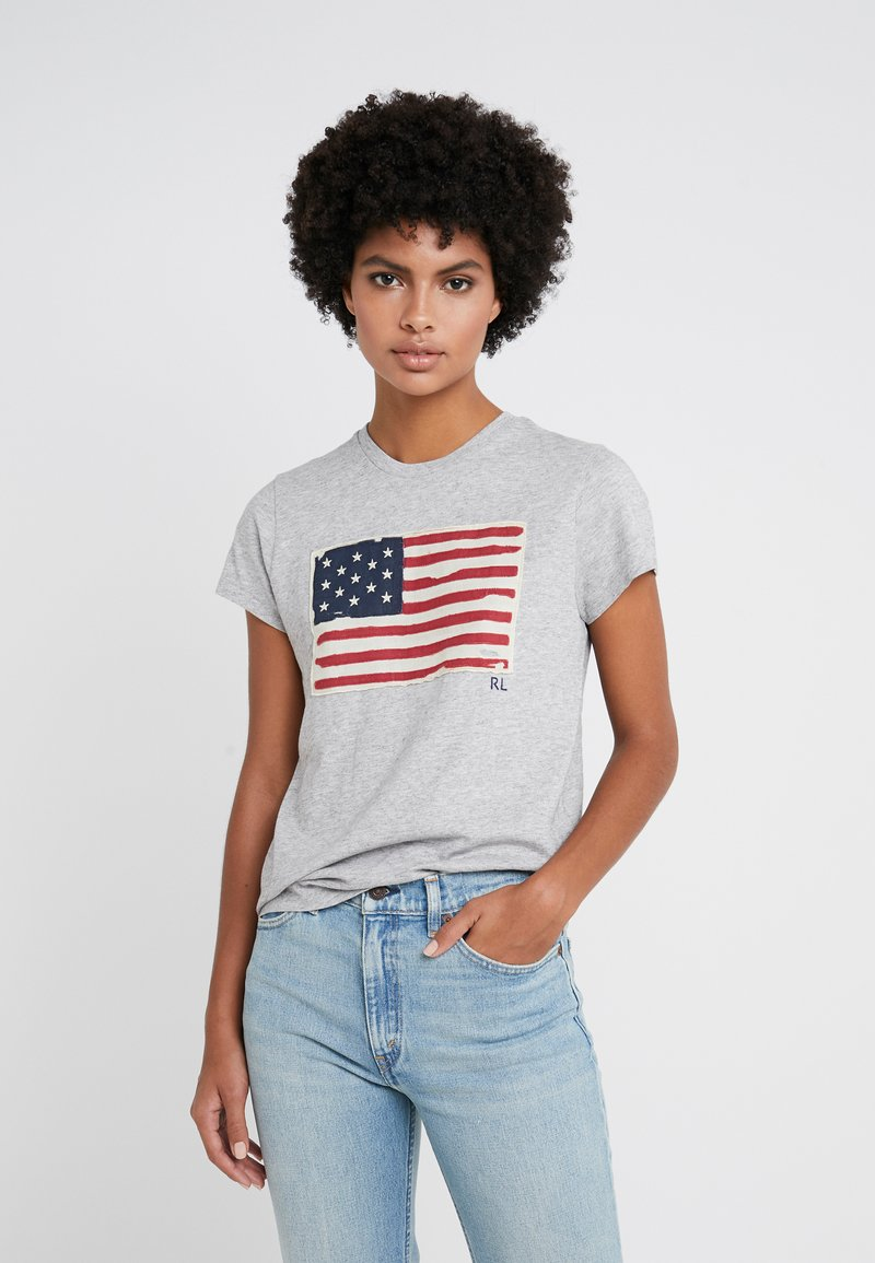 Polo Ralph Lauren - T-shirt z nadrukiem - cobblestone heather