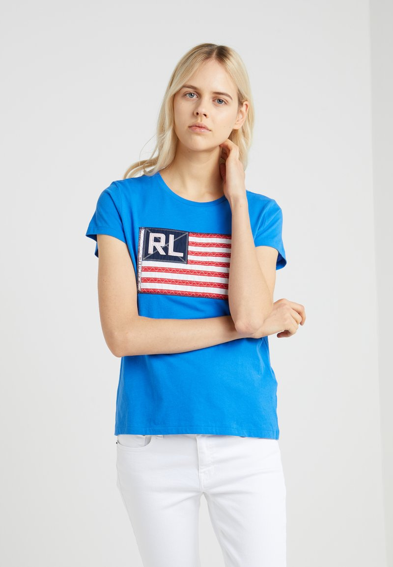 Polo Ralph Lauren - T-shirts med print - colby blue