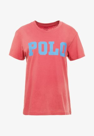 T-shirt med print - nantucket red