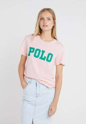 T-shirt con stampa - pink sand