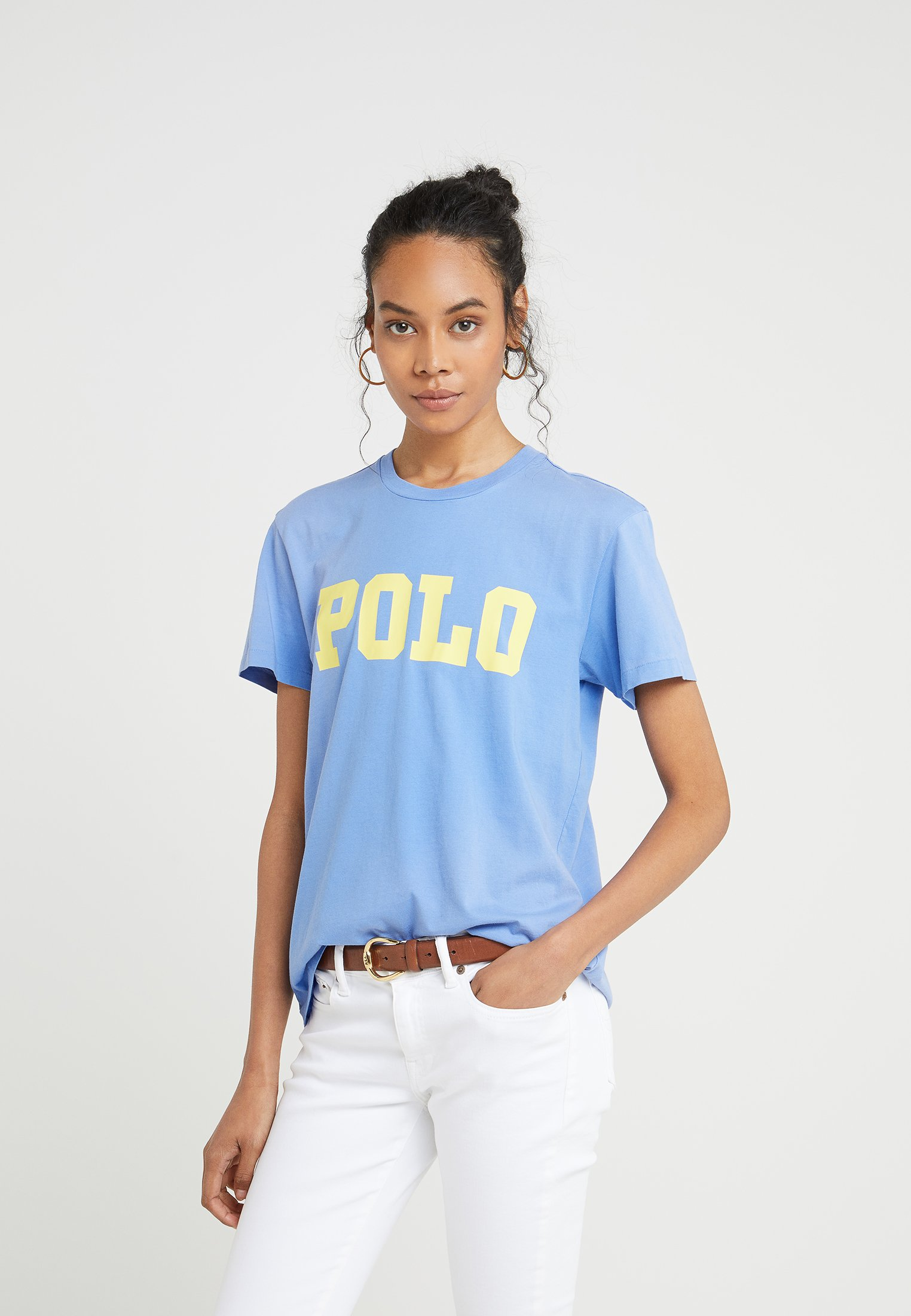 Polo Con T Lauren Stampa Ralph Blue Lake shirt HIE9D2