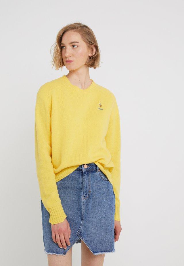 Strickpullover - racing yellow
