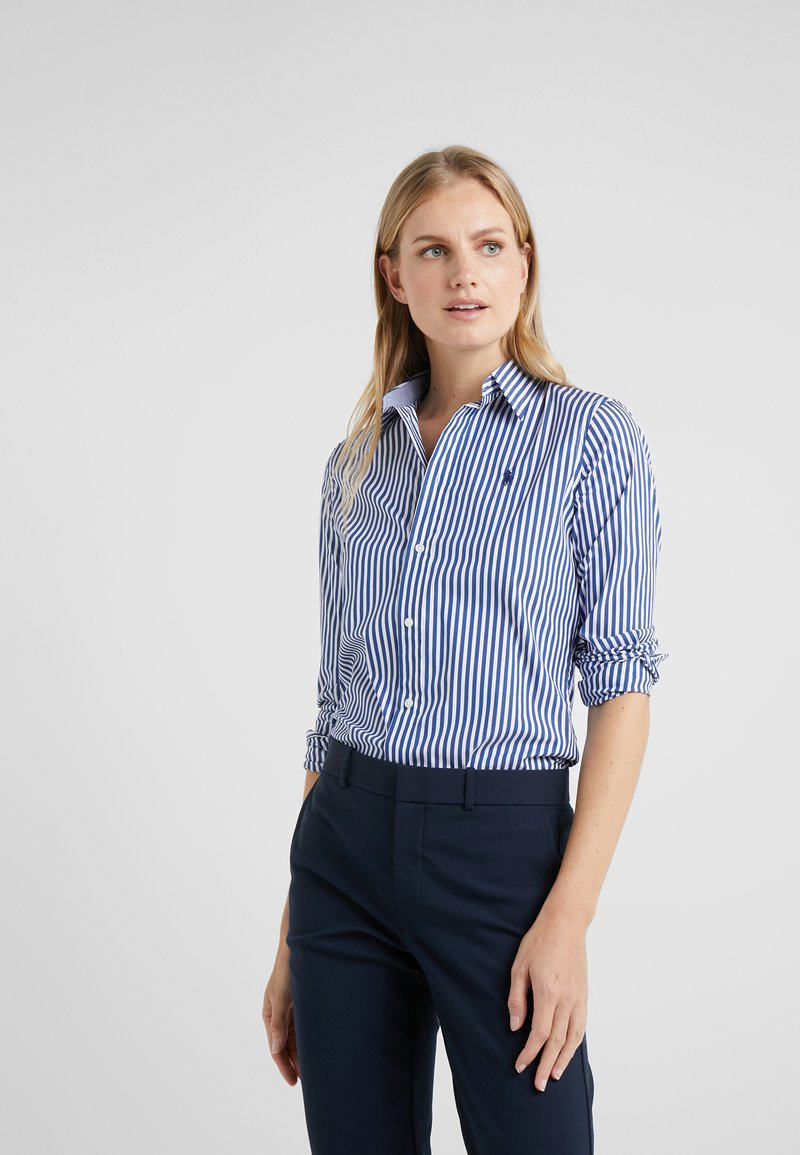 Polo Ralph Lauren - STRETCH  SLIM FIT - Hemdbluse - royal/white