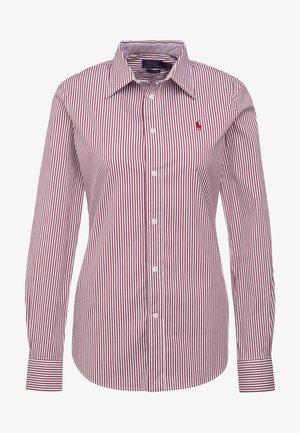 STRETCH  SLIM FIT - Camicia - red/white
