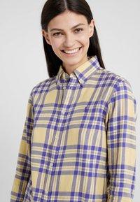 Polo Ralph Lauren - BRUSHED  - Button-down blouse - purple/yello - 4