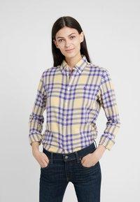 Polo Ralph Lauren - BRUSHED  - Button-down blouse - purple/yello - 0