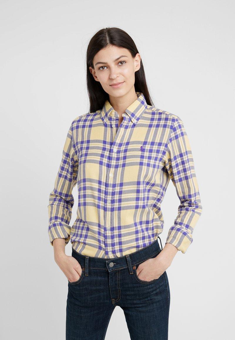 Polo Ralph Lauren - BRUSHED  - Button-down blouse - purple/yello
