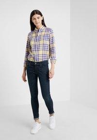 Polo Ralph Lauren - BRUSHED  - Button-down blouse - purple/yello - 1
