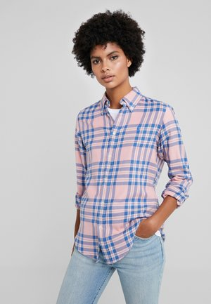 BRUSHED  - Button-down blouse - pink/blue