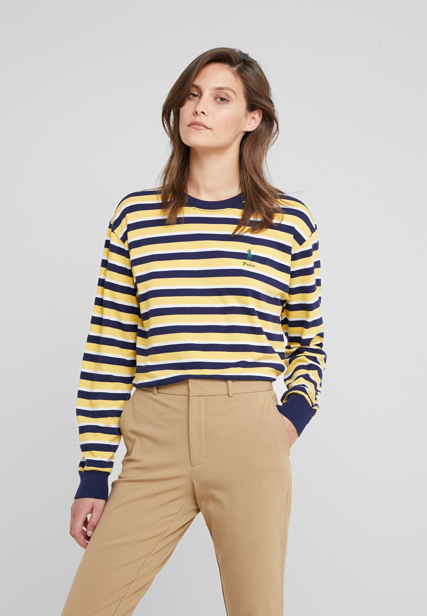 À Manches Polo Ralph LonguesYellow T Lauren shirt TFlKJ1c