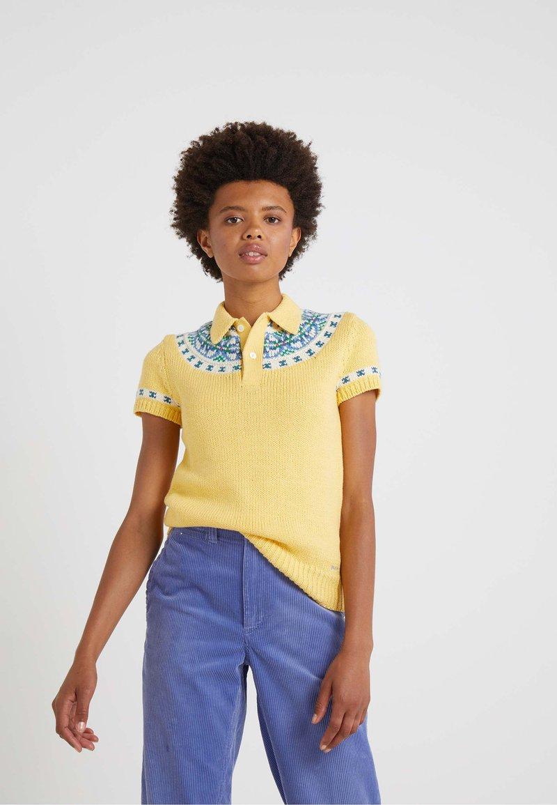Polo Ralph Lauren - LUXURY - Polo - pale yellow/multi