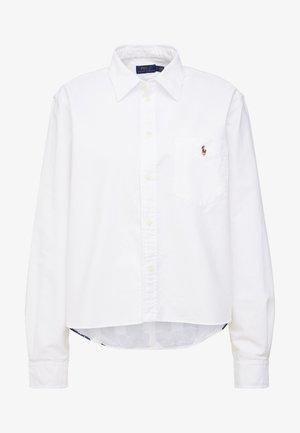 CLASSIC OXFORD - Button-down blouse -  white