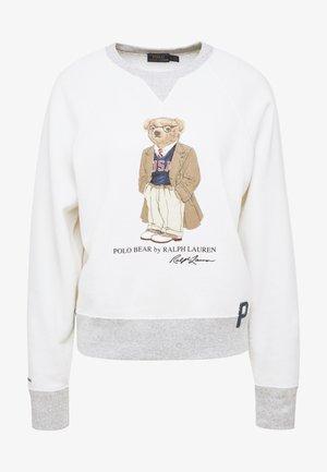 Sweatshirt - deckwash white