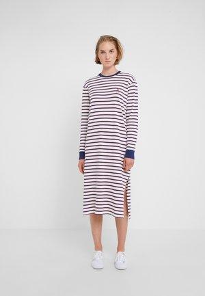 Jersey dress - white/multi-coloured