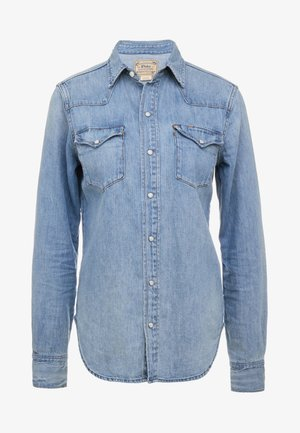 KATHERINE WASH - Button-down blouse - medium indigo