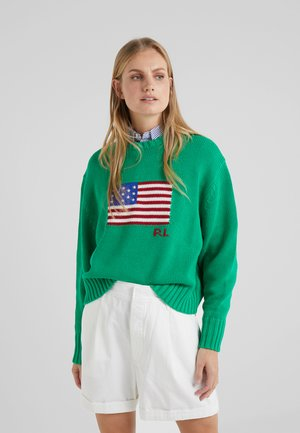 FLAG - Strickpullover - stem green/multi