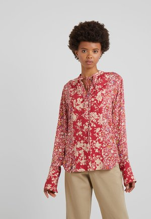Blouse - red combo