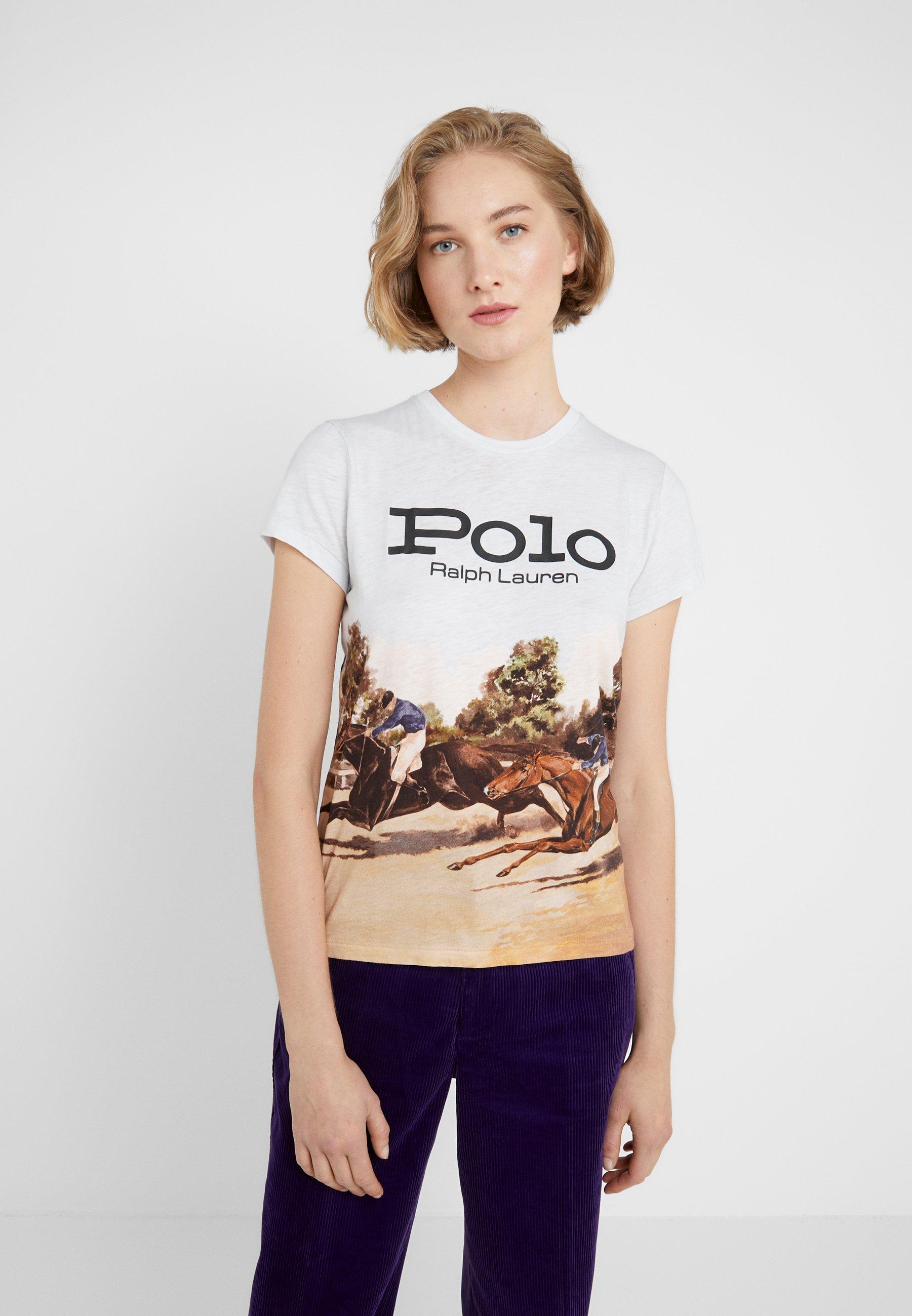 Multicolor Lauren UnevenT Polo Ralph Imprimé shirt WDEH2I9