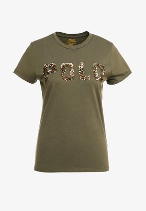 T-shirt con stampa - defender green