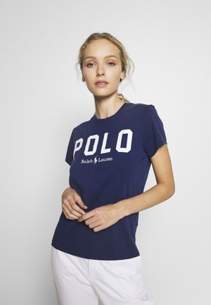 Print T-shirt - holiday navy