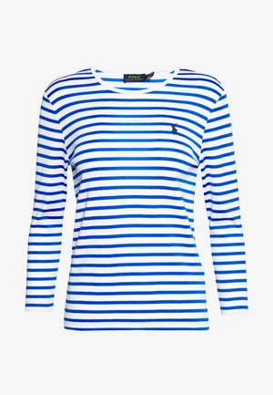 STRIPE - Long sleeved top - white/spa royal