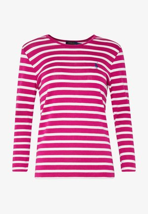 STRIPE - Long sleeved top - accent pink