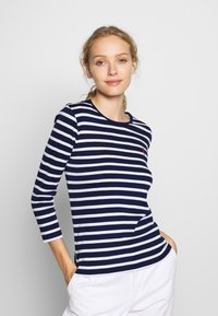 Polo Ralph Lauren - STRIPE - Top s dlouhým rukávem - holiday navy - 0