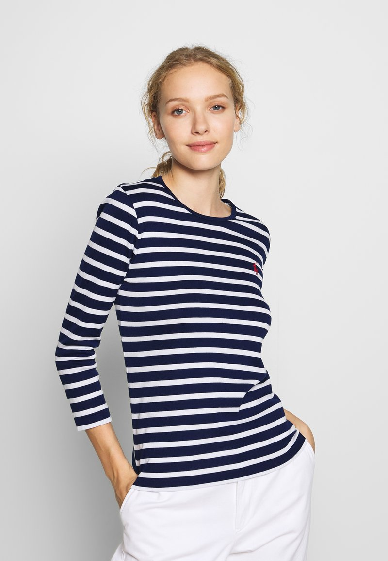 Polo Ralph Lauren - STRIPE - Top s dlouhým rukávem - holiday navy