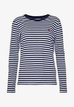 Maglietta a manica lunga - dark blue/white