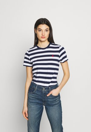 TEE SHORT SLEEVE - T-shirt con stampa - dark blue/white