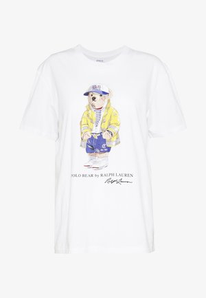 COAT BEAR SLEEVE - T-shirt imprimé - white