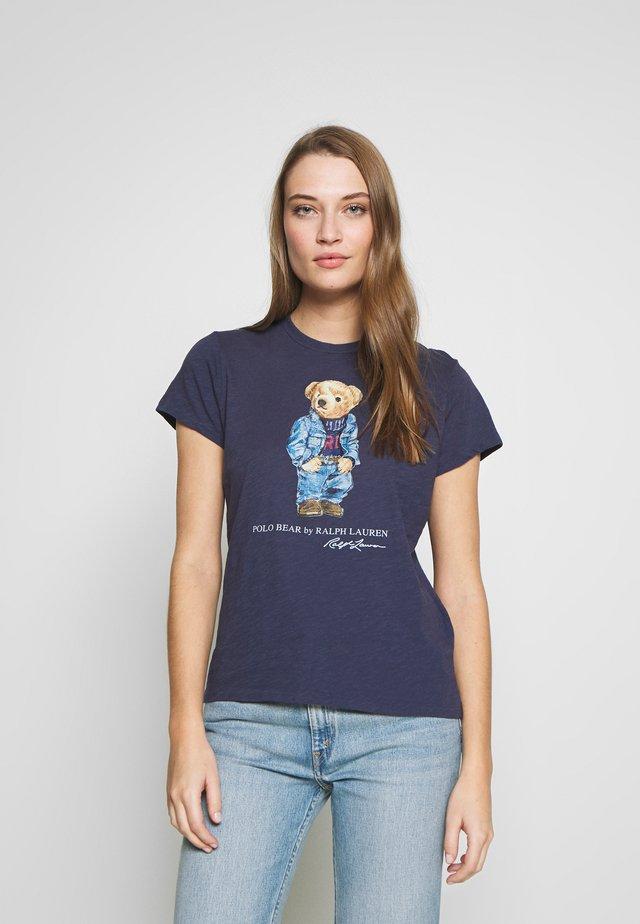 BEAR SHORT SLEEVE - T-shirt z nadrukiem - classic royal