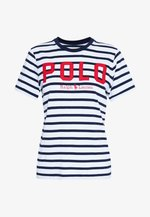 Print T-shirt - white/cruise navy