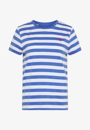 T-shirts print - white/indigo sky