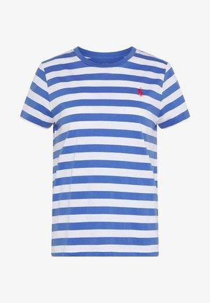 STRIPE SLEEVE - T-shirt z nadrukiem - white/indigo sky