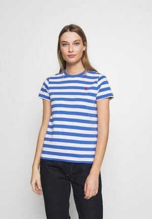 T-shirt con stampa - white/indigo sky