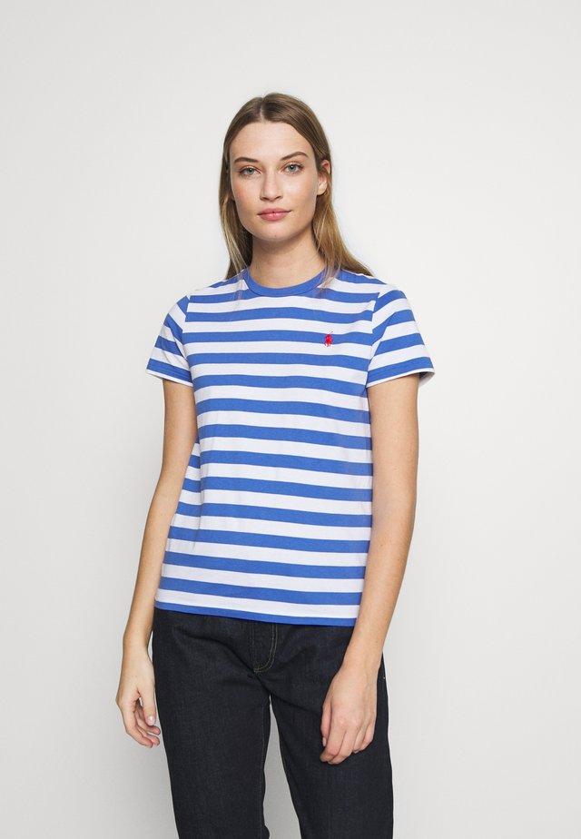T-shirt z nadrukiem - white/indigo sky
