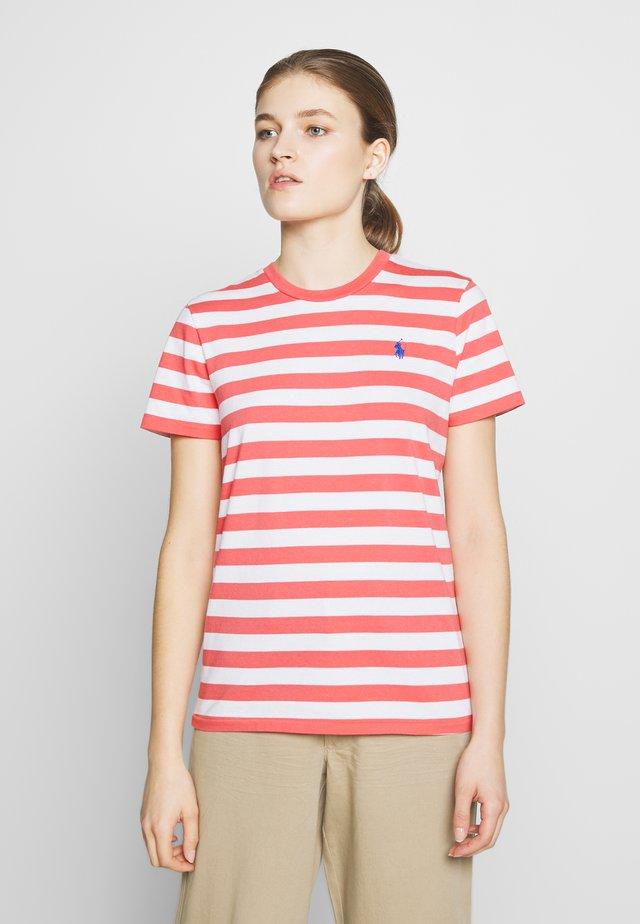 STRIPE SLEEVE - T-shirt con stampa - amalfi red/white
