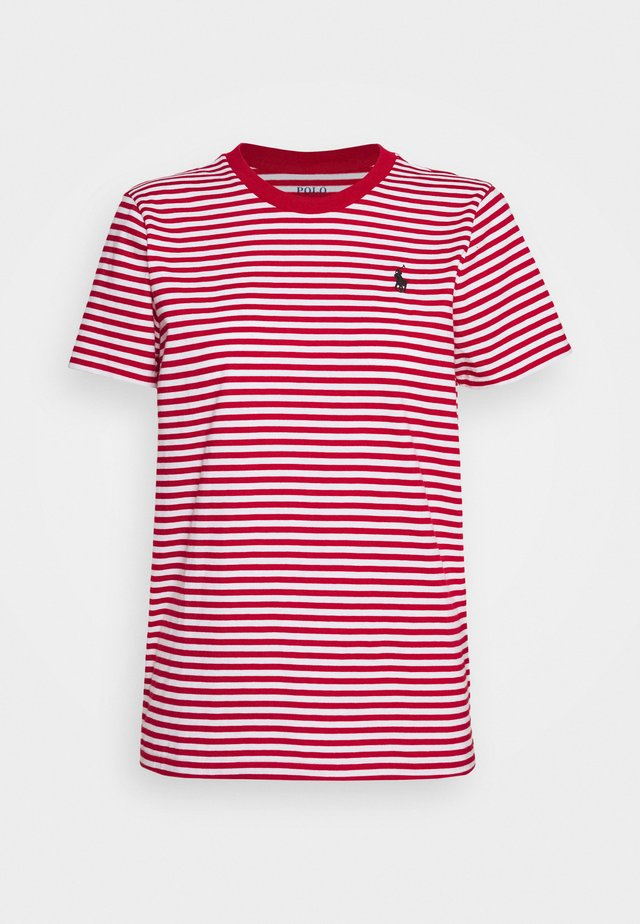 STRIPE SLEEVE - T-shirt con stampa - red/white