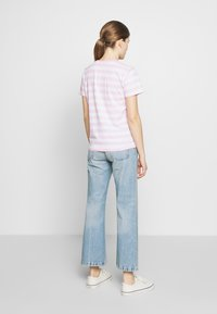 Polo Ralph Lauren - STRIPE SLEEVE - Camiseta estampada - carmel pink white - 2