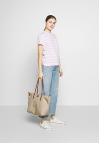 Polo Ralph Lauren - STRIPE SLEEVE - Camiseta estampada - carmel pink white - 1