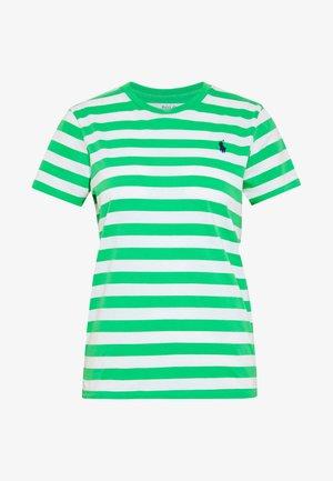 T-shirt imprimé - tiller green/white