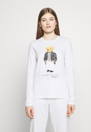 SASH BEAR LONG SLEEVE - Long sleeved top - white