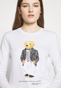 Polo Ralph Lauren - SASH BEAR LONG SLEEVE - Long sleeved top - white - 5