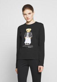 Polo Ralph Lauren - SASH BEAR LONG SLEEVE - Long sleeved top - polo black - 0