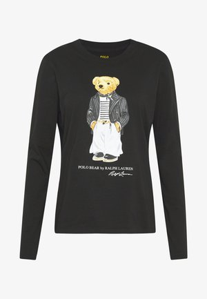 SASH BEAR LONG SLEEVE - Camiseta de manga larga - polo black