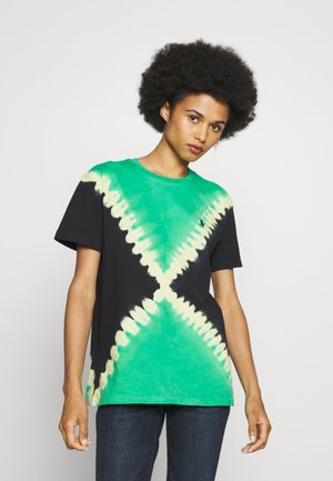 TIE DYE T-SHORT SLEEVE - T-shirt con stampa - stem/black