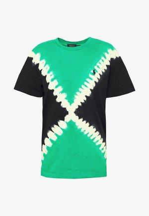 TIE DYE T-SHORT SLEEVE - T-shirt con stampa - stem/black
