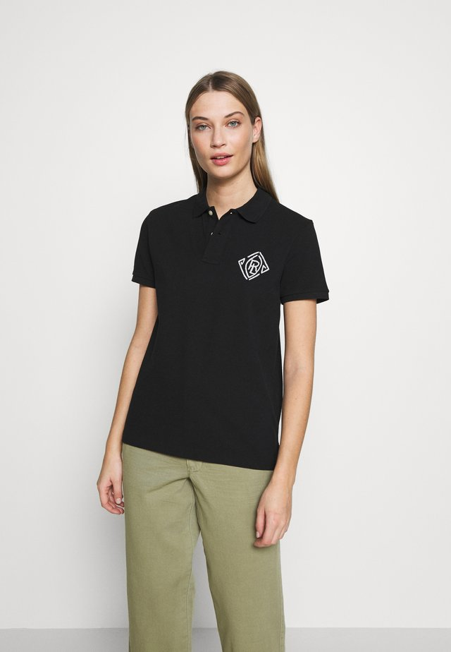 BEADED SHORT SLEEVE - Polo - black